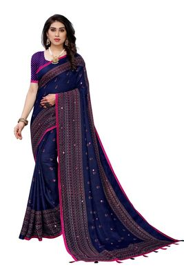 New Design linen jute silk saree with printed border and butti work