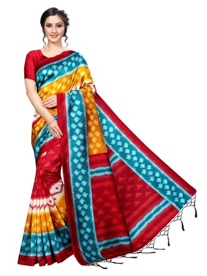 NEW BANARASI ART SILK SAREE WITH  BLOUSE