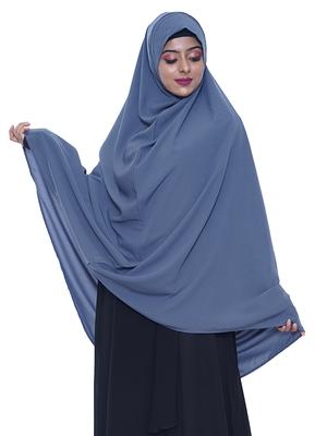 women's salafi/maftha/hijab/makhna/prayer hijab grey-XL