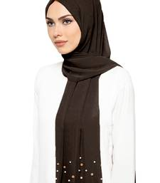 JSDC Free Size Women Occasion Wear Georgette Pearl Work Hijab Scarf Dupatta