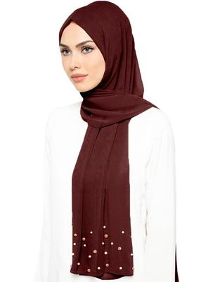 JSDC Casual Wear 2 Meter Long Islamic Georgette Pearl Work Dupatta Scarf