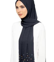 JSDC Occasional Wear 2 Meter Georgette Pearl Work Hijab Scarf