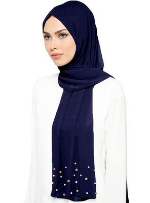 JSDC Ladies Daily Wear Georgette Long Pearl Work Dupatta Scarf