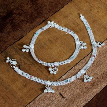 Silver anklets
