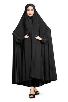 JSDC Daily Wear Plain Viscose Lycra Chaderi Prayer Abaya Burqa for Women