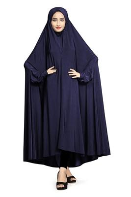 JSDC Casual Wear Plain Viscose Lycra Chaderi Prayer Abaya Burqa for Women
