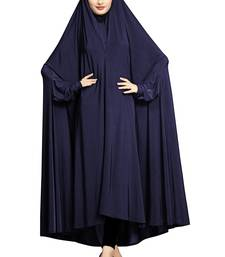 JSDC Casual Wear Plain Viscose Lycra Chaderi Prayer Abaya Burqa for Women