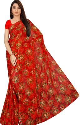 CHITRAKSHI LIGHT WEIGHT FLORAL DIGITAL PRINTED SAREE WITH BLOUSE PIECE