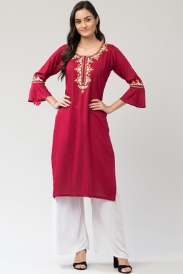 MRC Women's Embroidered Kurti