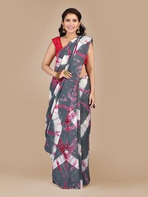 Multicolor printed pure cotton saree