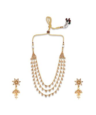 Gold Plated Designer necklaces with earings