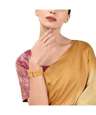 Gold Plated Ethnic Designer 4 Pc Bangles For Women
