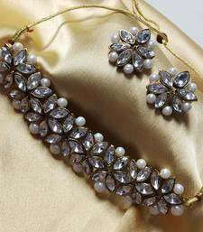 Designer Kundan Pearl Choker Jewelry Set