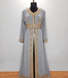 Gray and Black luxurious Moroccan Kaftan