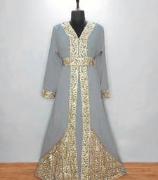 Gray luxurious Moroccan Kaftan