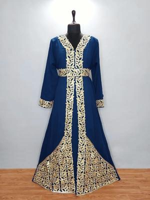 Navy Blue luxurious Moroccan Kaftan