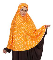 JSDC Daily Wear Printed Stitched Spun Lycra Chaderi Hijab Without Sleeves