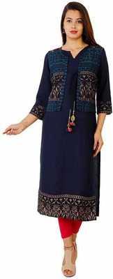 Attractive Woman Rayon Kurti with Jacket
