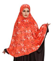 JSDC Floral Printed Stitched Spun Lycra Chaderi Hijab Without Sleeves