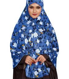 JSDC Namazi Wear Floral Printed Stitched Spun Lycra Chaderi Hijab Without Sleeves