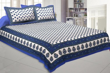Texstylers Pure Cotton Jaipuri Print 200 TC Double Bedsheet With 2 Pillow Covers