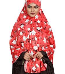 JSDC Printed Stitched Spun Lycra Chaderi Hijab Without Sleeves