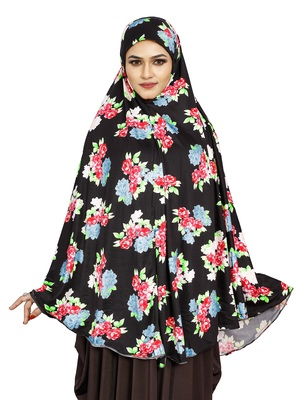 JSDC Casual Wear Printed Spun Lycra Chaderi Hijab Without Sleeves