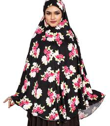 JSDC Occasion Wear Printed Spun Lycra Chaderi Hijab Without Sleeves