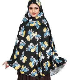 JSDC Daily Wear Printed Spun Lycra Chaderi Hijab Without Sleeves