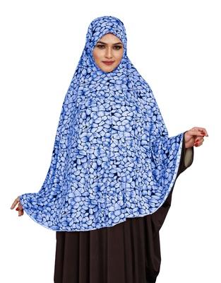 JSDC Printed Stitched Spun Lycra Abaya Hijab Without Sleeves