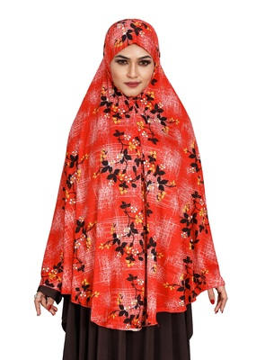 JSDC Casual Wear Printed Spun Lycra Chaderi Hijab Without Sleeves