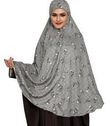 JSDC Occasion Wear Printed Spun Lycra Chaderi Hijab Without Sleeves