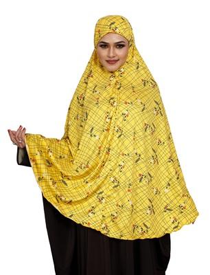 JSDC Printed Spun Lycra Chaderi Abaya Hijab Without Sleeves