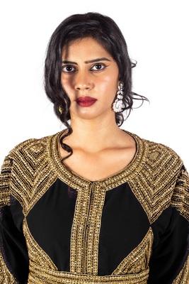 Black Diamond Design luxurious Moroccan Kaftan
