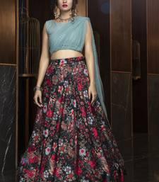 Black Cotton Party Wear Designer Lehenga
