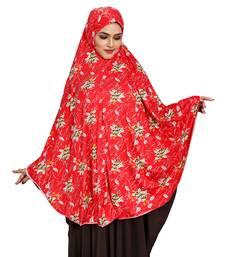 JSDC Women Printed Stitched Spun Lycra Abaya Hijab Without Sleeves