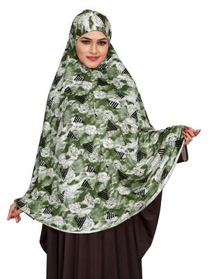 JSDC Women Printed Stitched Spun Lycra Abaya Hijab Scarf Without Sleeves