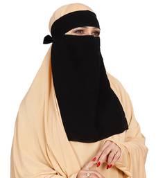 JSDC Women Chiffon Fabric Plain Single Layer Niqab Nosepiece Hijab Scarf