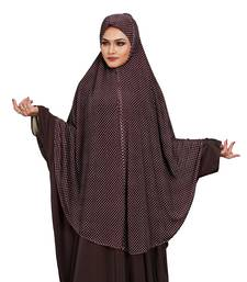 JSDC Women Party Wear Polka Dot Printed Stitched Imported Jersey Abaya Hijab Without Sleeves