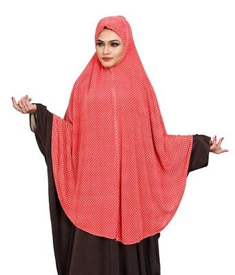 JSDC Women Polka Dot Printed Stitched Imported Jersey Abaya Hijab Without Sleeves