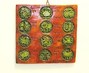 Terracotta Zodiac Plate