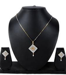 Buy Square Diamond Pendant Set Pendant online