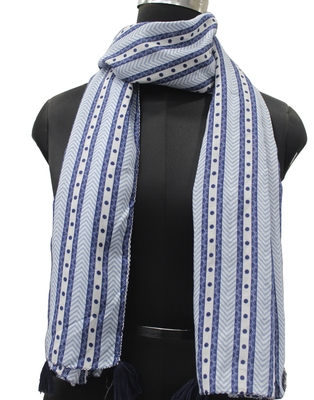 DesiButik Trends Stunning Muslin Fabric Multicolor Printed women scarf/Stoles With Tassels