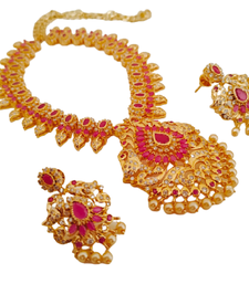 Pink south-indian-jewellery