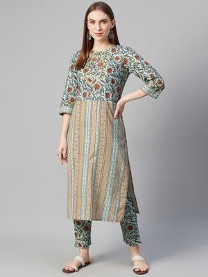 Multicolor printed cotton cotton-kurtis