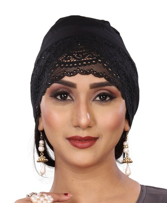 Black embroidered jersey islamic-accessories