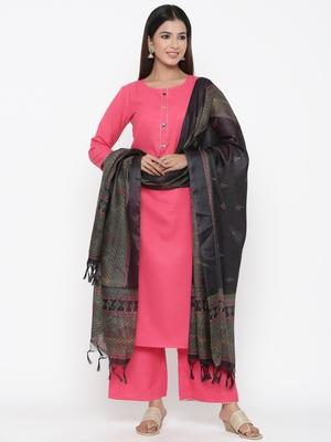 Pink printed cotton kurta-sets