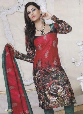 Cotton Dress Material Elegant Designer Unstitched Salwar Suit D.No 12012