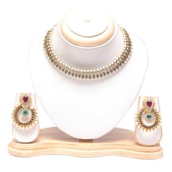 Multicolour necklace set online