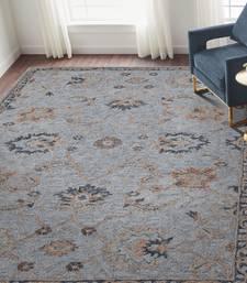 Modern rug 5'x8' Sky Blue for Bedroom
